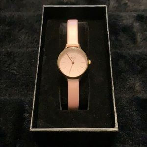 Leather band Rose gold coloured Small watch